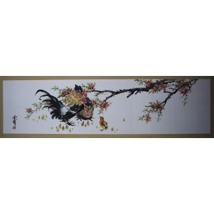 운보 김기창 화백의 그림입니다. 닭의 눈이 살아 있고, 깃털도 살아 있습니다.